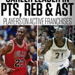 Kevin Garnett and Michael Jordan are the only players to lead a current franchise in points, rebounds and assists. https://t.co/FxsXS8JtPF