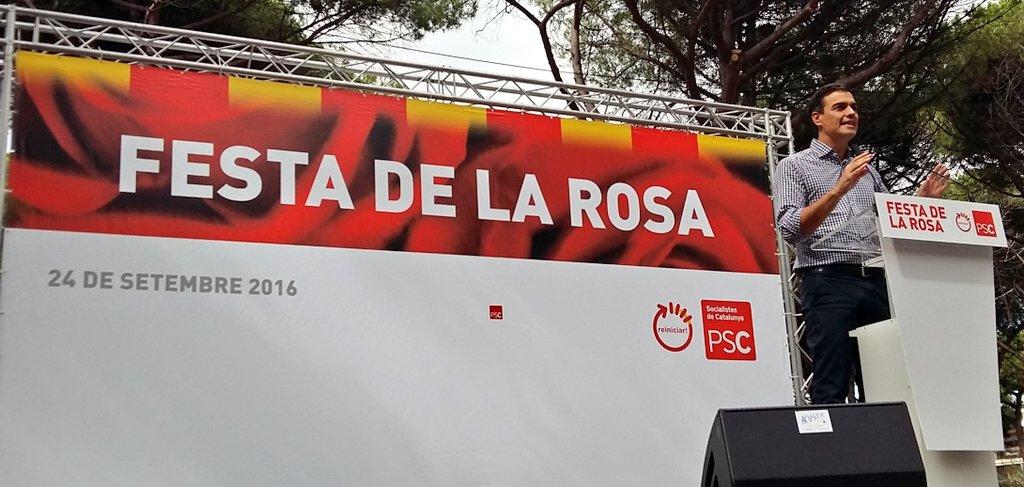 'La responsabilidad del @PSOE no es reforzar aquello que combatimos' @sanchezcastejon #sialcambio #FestadelaRosa