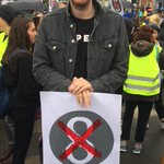 @Hozier ready to represent as he joins us to #riseandrepeal at the #arcmarch16 #marchforchoice #repealthe8th https://t.co/8uhgPrNRCI