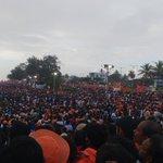 Lakhs gather in #Kozhikode to listen to the vibrant speech of @narendramodi ji & other Sr. leaders. #KeralaWithNaMo https://t.co/k9xBep6H3m