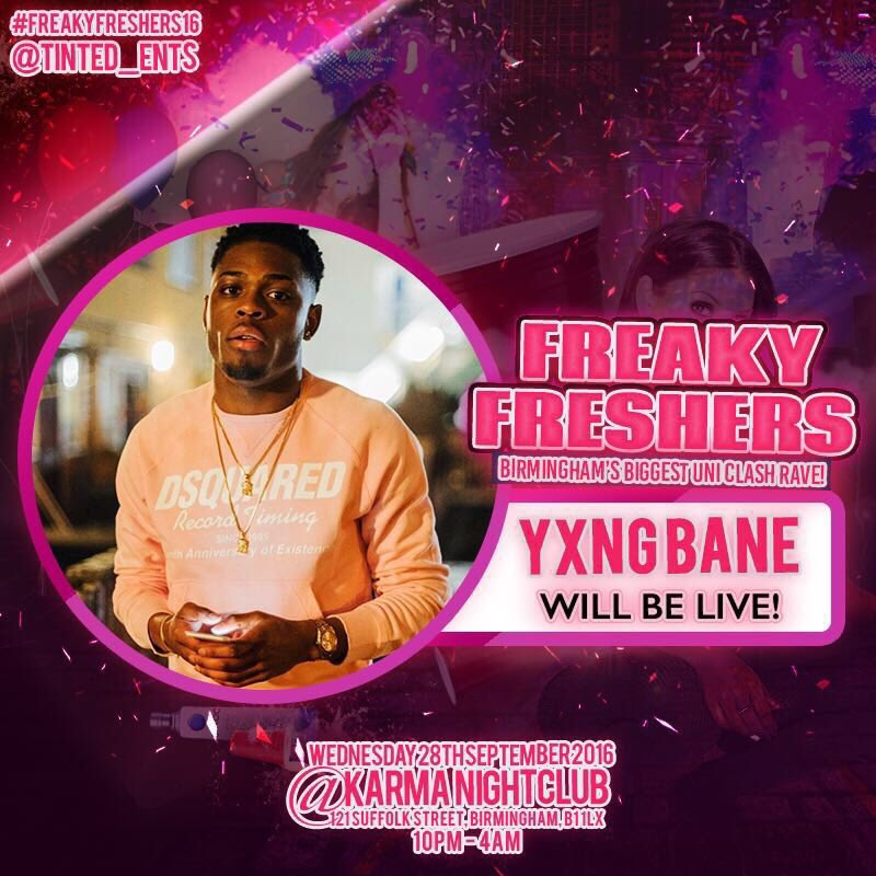 Congrats to @Abishyngle for the tickets on @Reece_Parkinson & @yxngbane is the headliner! #FreakyFreshers16