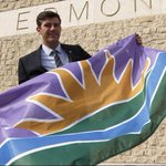 Is it time to redesign #yegs city flag? The idea is making waves — even @doniveson is running it up the flagpole https://t.co/yqMocymOvD https://t.co/p7ratqki0z