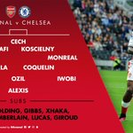 Heres how we line up for #AFCvCFC https://t.co/QDS2oNU6BF