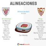 ¡Valverde y Sampaoli ya han elegido sus onces para el #AthleticSevillaFC! 💻 Match Centre ➡️ https://t.co/DI9MUqMPJK https://t.co/LTBEuRNMam