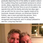 Oh gosh. Michael Palins Facebook message about Terry Jones. https://t.co/JYc7sYRPIT