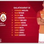 Galatasaray XI: Muslera, Sabri, Chedjou, Hakan, Carole, Tolga, Selçuk, Yasin, Sneijder, Bruma, Derdiyok. https://t.co/zY2LpslFRl