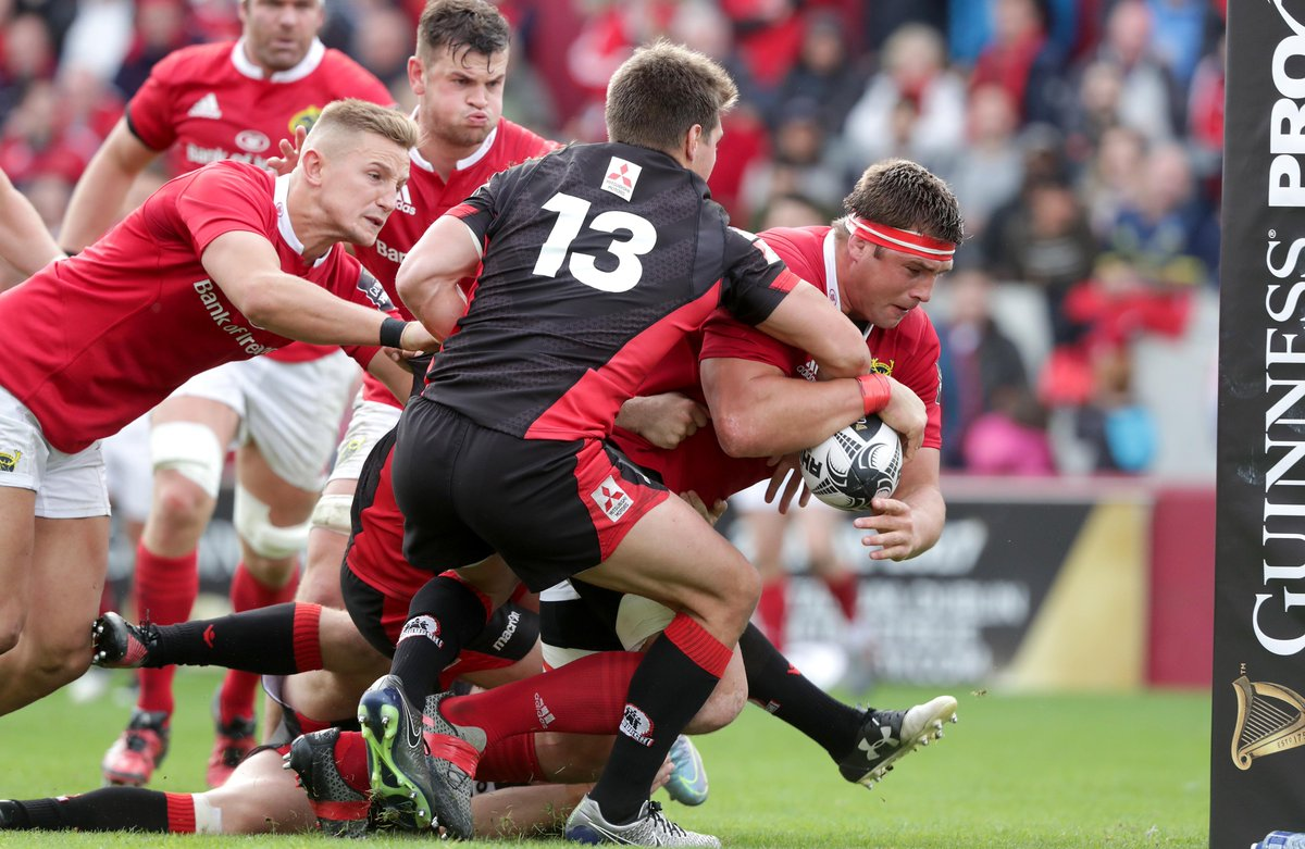 A bonus point victory at Thomond Park! Some great performances from @Munsterrugby's pack. #MUNvEDI #MunsterRising https://t.co/FbBmlmipFy