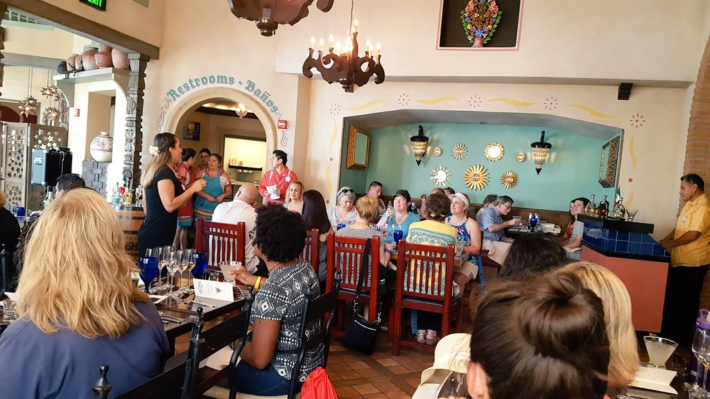 #Tequila tastings with @Tequilatotaste happening right now @lahaciendaepcot #disneyside #EpcotFoodandWine https://t.co/BLJZSTH0Qp