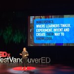"""""""Making is about learner empowerment"""" - @librarymall shares the joy in making #TedxWestVanED https://t.co/LlBZ3LWfbO"""