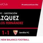 62I Segundo cambio en el #SevillaFC entra @mudo_vazquez por @carlosfdezluna #vamosmisevilla #AthleticSevillaFC https://t.co/oASzQsW9Wd