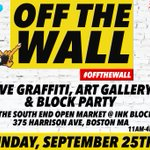 TOMORROW: 11AM #OffTheWall hosted by @InkBlockBoston @seopenmarket https://t.co/dHW5M1yG7B #Boston https://t.co/g8kftkkI5Y
