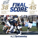 The Zips fall just short in their comeback effort, 45-38, to App St. https://t.co/fAAXnNpQy1