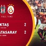 MAÇ SONUCU | Beşiktaş 2-2 Galatasaray https://t.co/ozgcPUqLAN