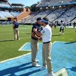 .@TarHeelFootball HC Larry Fedora & @Pitt_FB HC Pat Narduzzi talking before todays game....@WFMY @ptwright https://t.co/hRGNI7bmQ0