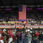 Heres the setup for Donald Trumps Roanoke rally at the @BerglundCtr https://t.co/EuqTtPmDFo