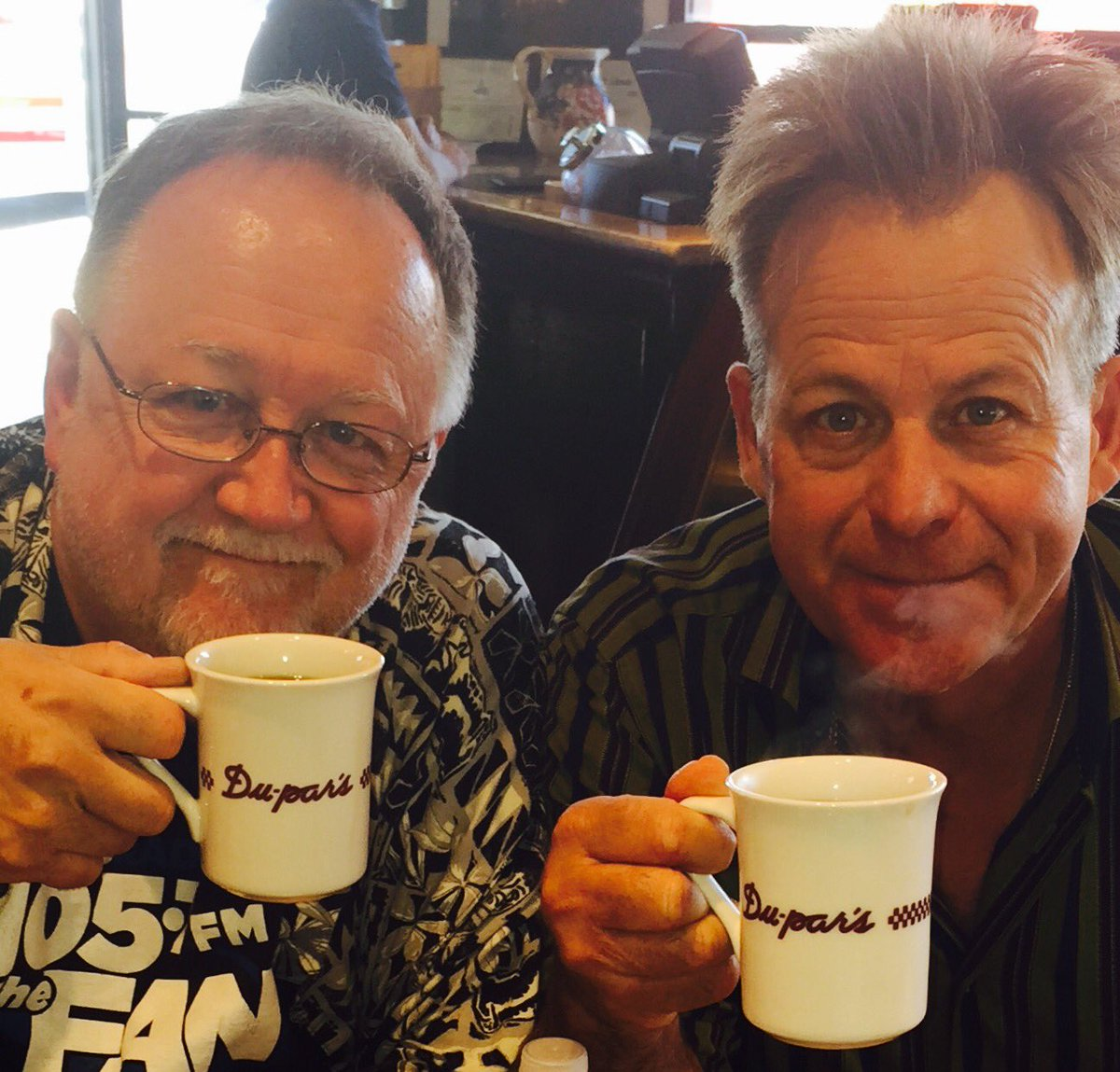 @kinshriner and me at #worldfamousdupars enjoying coffee as we have for FORTY years https://t.co/TD3KmuNgSu