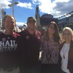 Always great to enjoy @HailStateFB with family. @StevePDawg @mikephillips_89 @todd662 https://t.co/Wqw8yuitCB