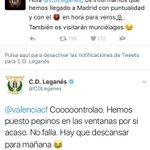 Qué bonito es el fútbol vivido con deportividad y buen rollo. Bravo por @CDLeganes y @valenciacf https://t.co/ZJJZQ93TfR