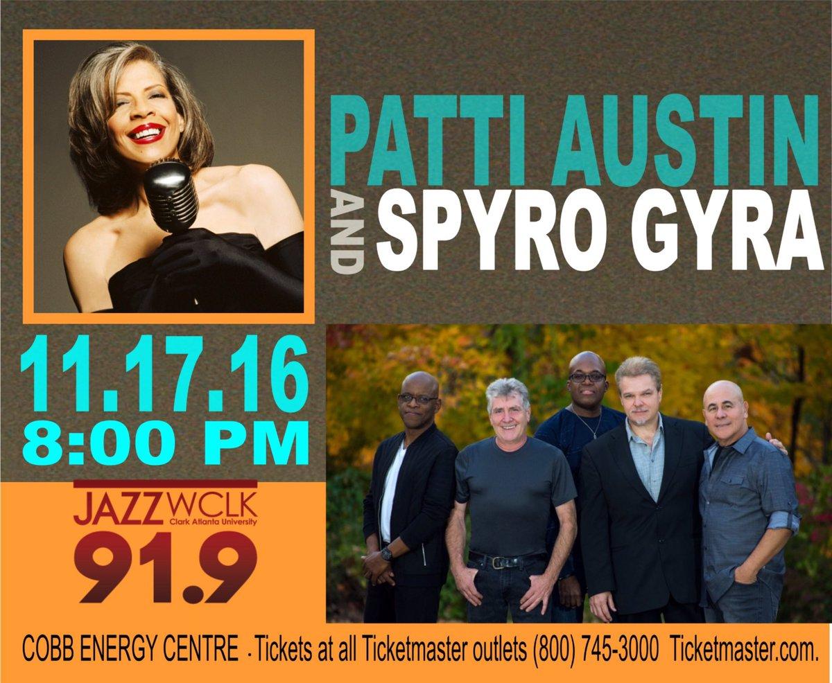 - GOT TICKETS?!. #Click https://t.co/XiFnYkGIPU @pattiaustin @SpyroGyraGroup play #Atlanta #Jazzness #ATL https://t.co/Bmndjkhk7a