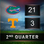 HALFTIME: Vols trailing the Gators, 21-3. https://t.co/kEqGiMtEIO