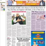 PM speaks of avenging Uri attack but TT gives 1/2 front page to Pak envoys blarney! Typical. https://t.co/6huaqFNcLV