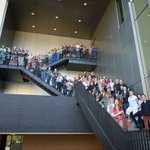 Pleased to have used the new #chicostate ARTS building for large group photo of @NStateSymphony https://t.co/5azMI8feRO
