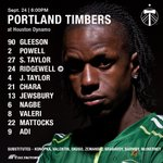 Timbers XI and subs for todays @MLS match against the Dynamo! Kick is 6pm PT on KPDX! #RCTID https://t.co/GxETiHYDPU