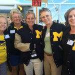 Some fellow UMFH alums on hand to see Marcia receive an honorary M & letter jacket from @MLetterwinners today. #GoBlue https://t.co/v7FJtTzDvI