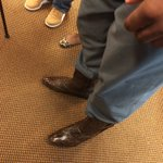 "Jauan Jennings sporting gator skin boots postgame. ""We just got done hunting"". https://t.co/HcAputtAa2"