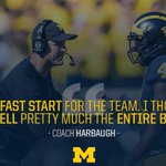 .@CoachJim4UM liked our team's fast start today. 👍 #GoBlue https://t.co/anaznqnkty