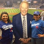With the man, the myth #VinScully on his second to last home game. Or more like a poster of him @Dodgers Stadium. #mydayinLA #chavezravine https://t.co/xhWsddAhGO