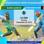 First ODI Afghanistan Vs @BCBtigers Time: 01:00pm (Afghanistan Time) https://t.co/H8kBLief4A