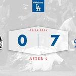 After 5: #Dodgers 7⃣, Rockies 0⃣ 👍 https://t.co/98UfbXQ0eg