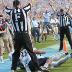 Student manager @the_SamPittman is pumped after @ThaBugMan catches the game winner against Pitt. #PITTvsUNC https://t.co/JjC8yBsCfH