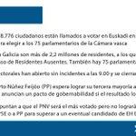 DIRECTO #25S https://t.co/LbzOKLlf7Z Las claves de la jornada electoral en El País Vasco y Galicia https://t.co/5h61qPO5c4