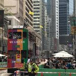 #hongkong experiment with pedestrianised downtown underway. https://t.co/n2RkBqeMUf