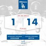 RECAP:@ClaytonKersh22 deals, @RealJoshReddick hits grand slam in #Dodgers 14-1 win. 👊 🔗: https://t.co/Gzu3mBMU1s https://t.co/gVWW2Ti4Lx