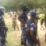 Armed officers 2disrupt a peaceful gathering @PoliceUg ths z a shame n abuse of basic human rights #ugpridehijack https://t.co/D3G54zXgFg