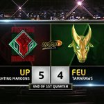#UAAPSeason79 | End of Q1: UP 5 - 4 FEU  👀 👀 👀 👀  Thats not a typo, folks. https://t.co/KecZ02uIG6