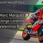 🏁 #MotoGP  🇪🇸 @marcmarquez93  🇪🇸 @lorenzo99  🇮🇹 @ValeYellow46   #AragonGP https://t.co/b3Qu8Oi0e8