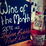 Grab a glass of pink bubbles for a 20% less! Thats the best kind of bubbles. #Brighton #wineofthemonth https://t.co/77nGDVnEQo