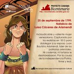 25 de septiembre Natalicio de Luisa Cáceres de Arismedi, https://t.co/hq5tccWofE Inclaudicable, Firme y Leal! https://t.co/M51wGKrzlh