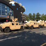 National Guard is here now. Hell of a sight outside the stadium https://t.co/sHAgWpNGjc