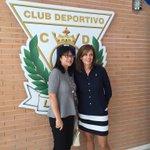 Hoy dos presidentas en el palco de Butarque!! Victoria Pavón recibe a Layhoon Chan #LeganésValencia #VamosLega https://t.co/dtmmpDMXzH