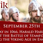 #OnThisDay in #1066, the Battle of Stamford Bridge ended the #Viking Age in England. https://t.co/p5ux3DHcBi