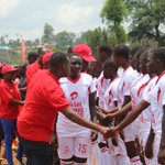 Musa Mayanja, our Brand and Assets Executive shaking hands with the #ARSUg2016 Under 17 Girls Final teams. https://t.co/hXjaB8eJUO