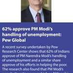 62% approve PM Modi's handling of unemployment: Pew Global https://t.co/ucxQTC6VBM via NMApp https://t.co/Rdi9ucHNmH