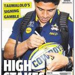 Mondays @bulletin_sport @tsv_bulletin back page, will @nthqldcowboys star Taumalolo head to the @NFL https://t.co/uNEnLotNUo