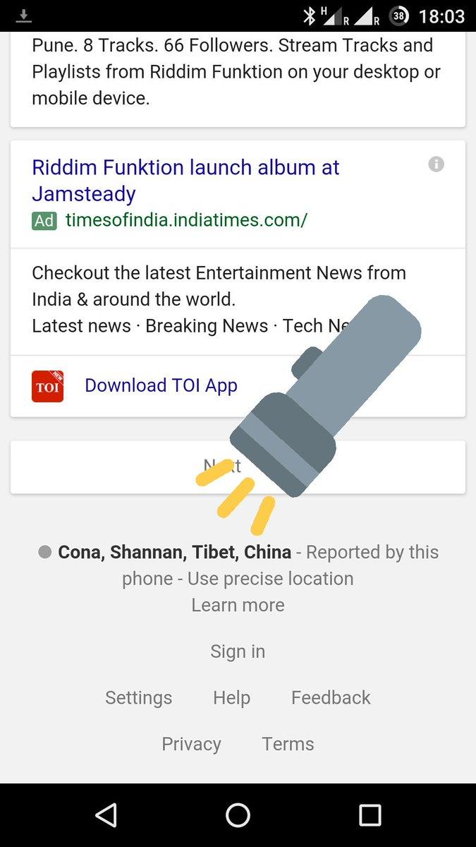 Hey @GoogleIndia, Arunachal Pradesh isn't in China. I'm a long, long way from the border. https://t.co/eVqi4FcVAN