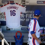 The Mets remember Jose Fernandez by hanging a jersey in their dugout during todays game. https://t.co/E198urNsEQ